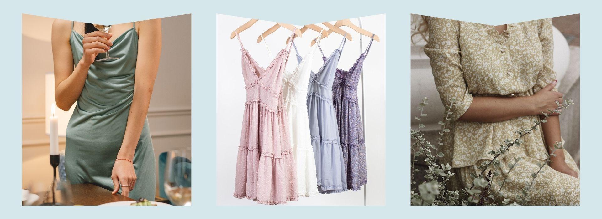 Silk dress, dresses hanging, sparkly dress
