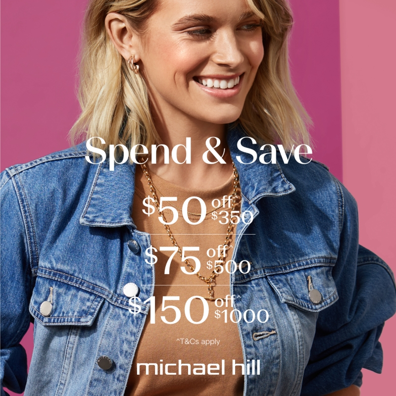 Spend and save michael hill woman in jean jacket