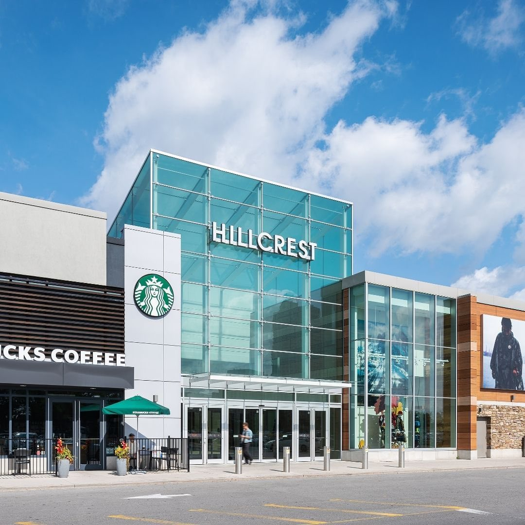 Exterior shot of Hillcrest with Starbucks front