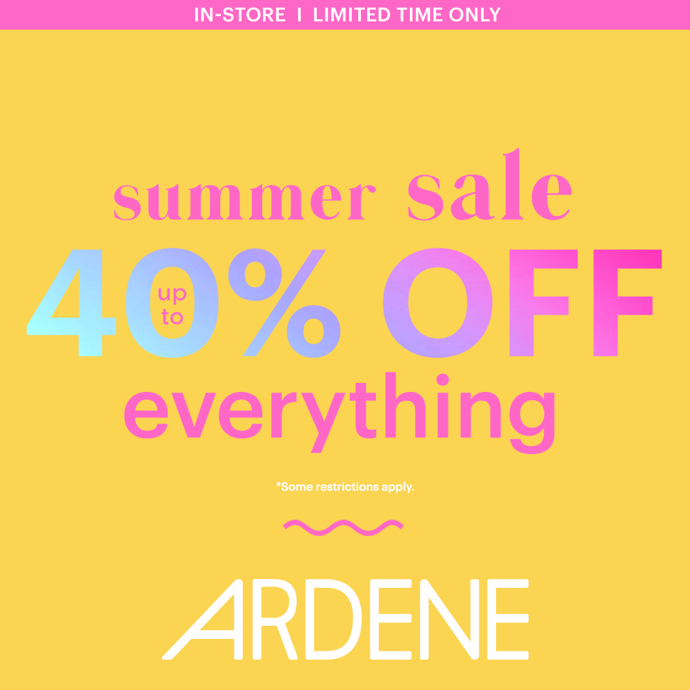 40% off everything summer sale