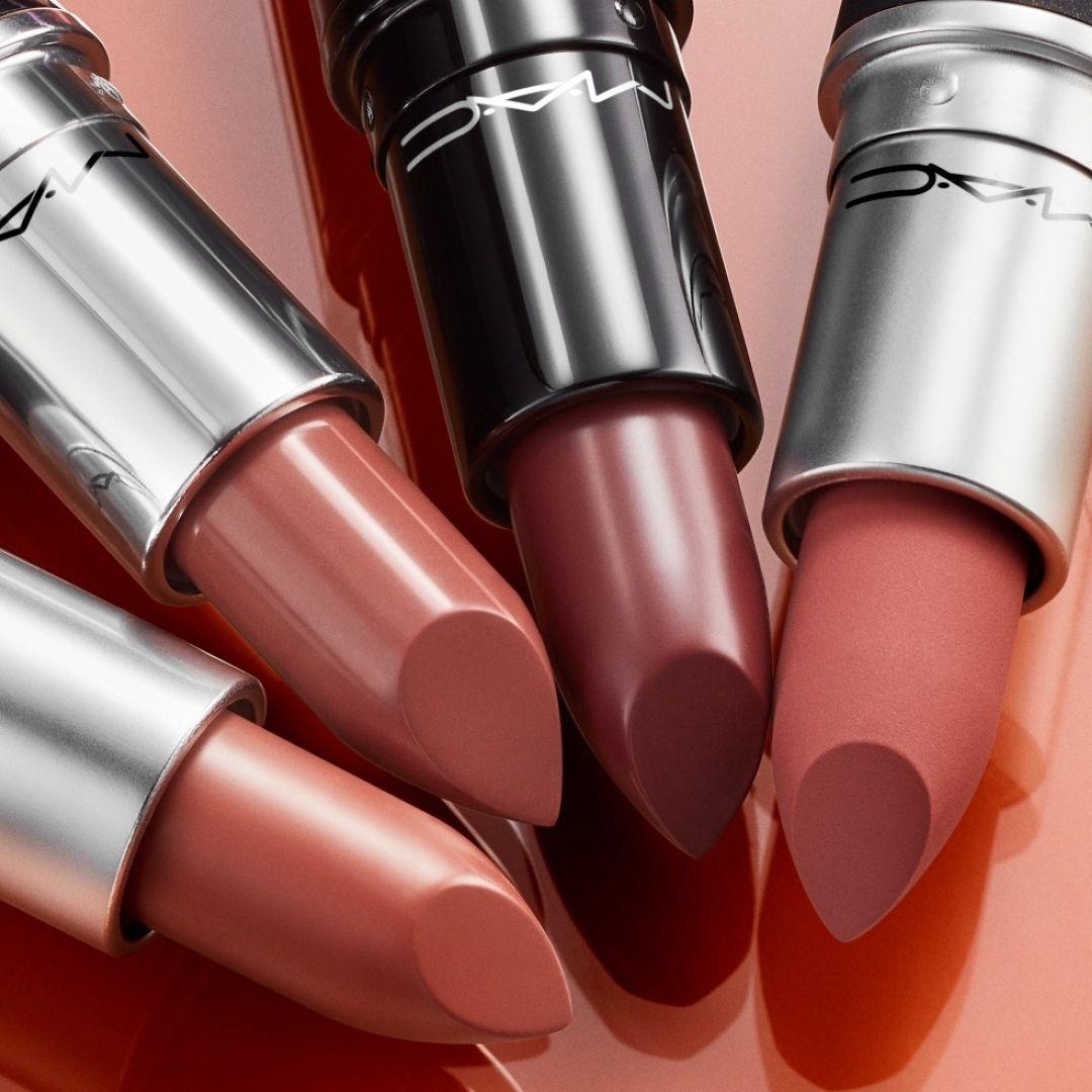 Four nude MAC lipsticks