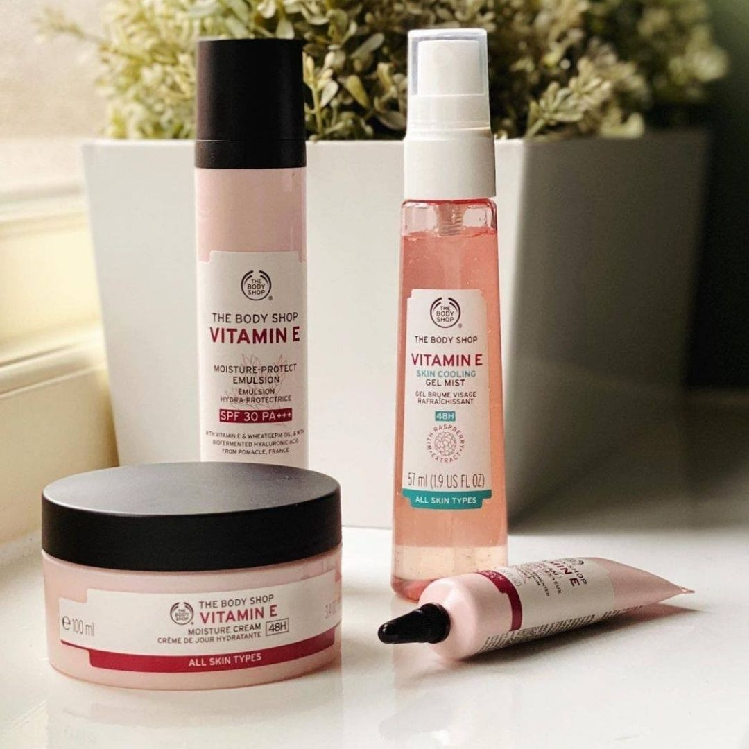 The body shop skincare items