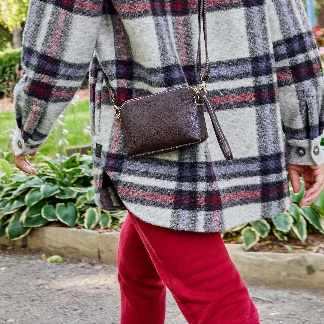 Mini leather handbag