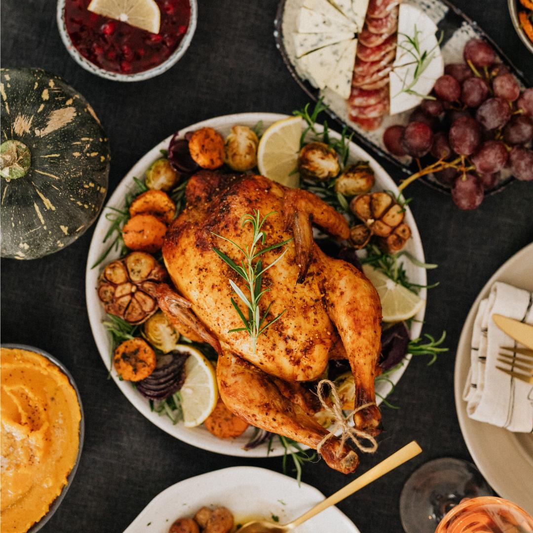 Turkey dinner on a plate